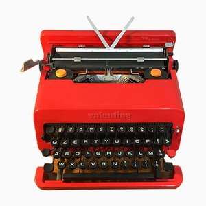 Mid-Century Italian Red Valentine Typewriter by Ettore Sottsass for Olivetti Synthesis, 1970s