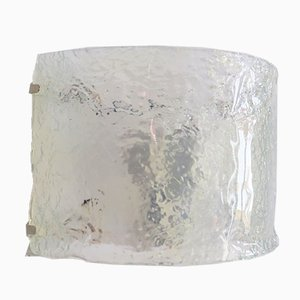 Opal Murano Glas Wandleuchten, 1970er, 2er Set