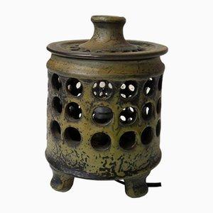 Keramik Tischlampe, 1960er