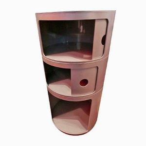 Mid-Century Modular 3-Section Storage Unit by Anna Castelli Ferrieri for Kartell