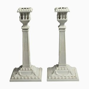 Neoclassical Candleholders from Royal Worcester, 1884, Set of 2