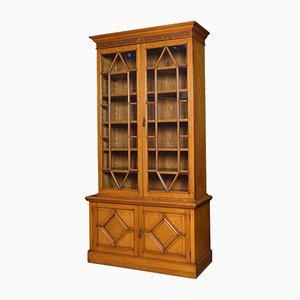 Golden Oak Cabinet with Two Doors