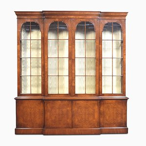 George II Style Walnut Display Cabinet