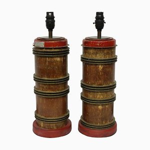 Mid-Century Industrial Style Table Lamps, Set of 2