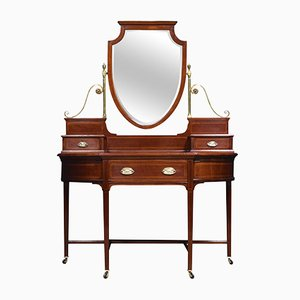 Antique Sheraton Revival Mahogany Dressing Table