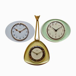 Vintage Triptych Clocks from Bayard, 1950s, Set of 3
