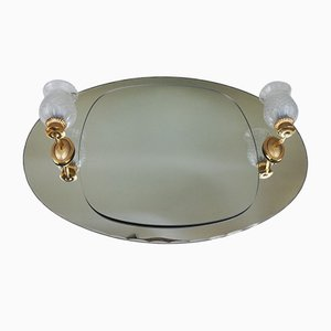 Vintage Oval Beveled Mirror