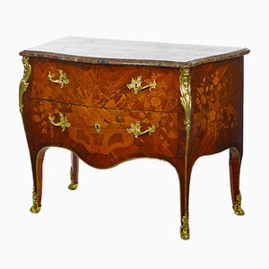 Antique Louis XV Marquetry Commode