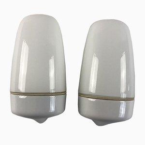 Ceramic Model 6077 Sconces by Wilhelm Wagenfeld for Lindner, 1950s, Set of 2
