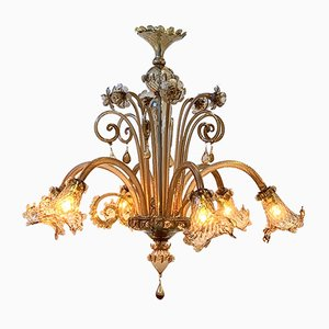 Vintage Amber Murano Ditta Chandelier from Cesare Toso