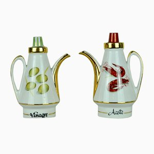 Oil and Vinegar Cruets, 1960s, Set of 2