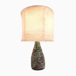 Handgefertigte französische Brutalistische Keramik Lava Tischlampe im Stil von Jacques Blin, 1960er