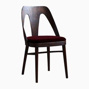Esszimmerstühle aus burgunderrotem Mohair von Kvadrat, 1950er, 4er Set