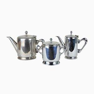 Verchromtes Messing Kaffeeservice von S. Braz, 1960er, 3er Set