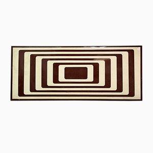 Panneau Op-Art Vintage en Émail de Style Vasarely, 1960s