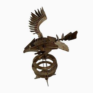 Handgefertigte Adler Skulptur aus Eisen, 1970er