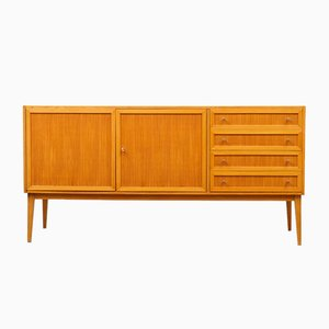 Mid-Century Ash Sideboard with Panel Doors