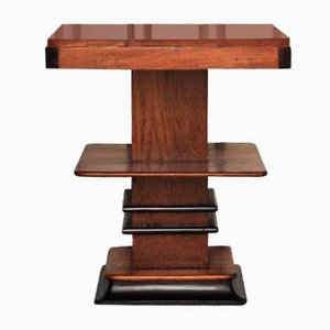 Art Deco Ebonised Walnut Side Table, 1920s