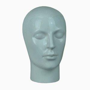 Kopfskulptur aus Porzellan, 1960er