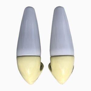 Swedish Ceramic No. 6035 Sconces by Sigvard Bernadotte for IFÖ, 1950s, Set of 2