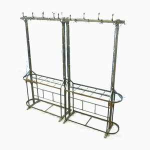 Antique Cast Iron Clothes Racks, 1900s, Set of 2