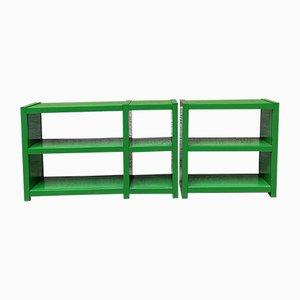 Verstellbare Grüne Kunststoffregale von Artemide, 1970er, 2er Set