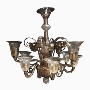 Vintage 9-Light Chandelier from Cesare Toso
