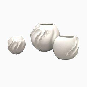 Mid-Century Vasen aus Biskuitporzellan, 3er Set