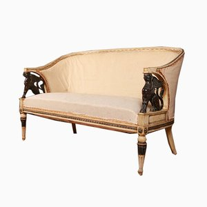 Antique Empire Style Swedish Sofa