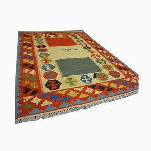 Qashqai Kilim Wool Carpet, 1990s