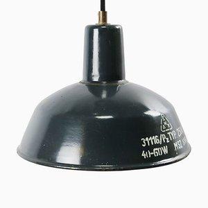 Vintage Industrial Blue Enamel Factory Pendant Lamp