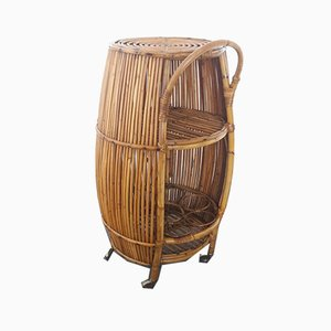 Mid-Century Wicker Trolley, 1950s