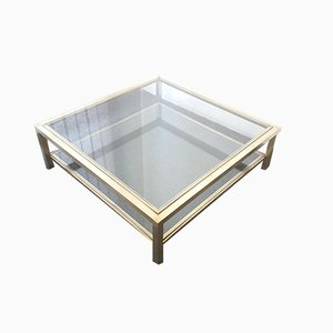 Square Coffee Table by Romeo Rega, 1970s