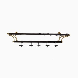 Iron & Brass Coat Rack, 1950s