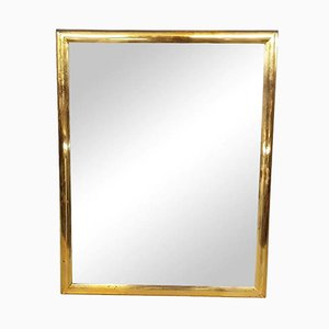 Brass Rectangle Mirror, 1950s