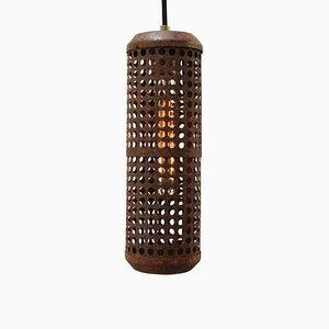 Lampe à Suspension Industrielle Vintage en Métal