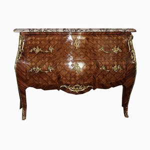 Vintage Louis XV Style Rosewood Inlaid Commode, 1940s