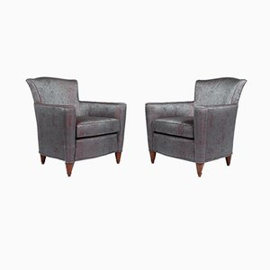 Art Deco Armchairs with Jean Paul Gaultier Cover, 1930s, Set of 2