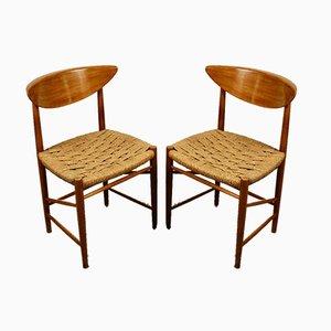 Chaises de Salon Modèle 316 par Peter Hvidt & Orla Mølgaard-Nielsen pour Søborg Møbelfabrik, 1950s, Set de 2