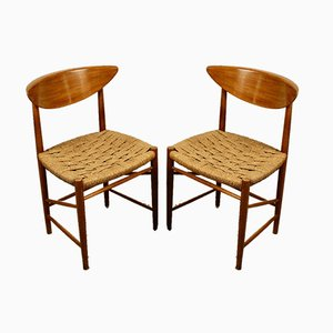 Model 316 Dining Chairs by Peter Hvidt & Orla Mølgaard-Nielsen for Søborg Møbelfabrik, 1950s, Set of 2