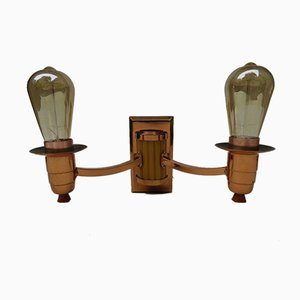 Art Deco English Catalin Butterscotch Colored Sconces, Set of 2