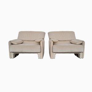 Italienisches Beigefarbenes Vintage Sofa und Sessel aus Cord von Linea Italia, 1980er