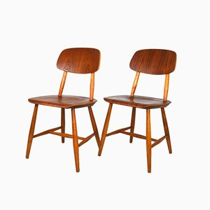 Break 28T Dining Chairs by Martinsson & Axelsson for Nässjö Stolfabrik, 1950s, Set of 2
