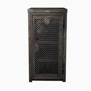Vintage Perforated Metal Tool Cabinet by Robert Wagner for Robert Wagner Chemnitz, 1920s