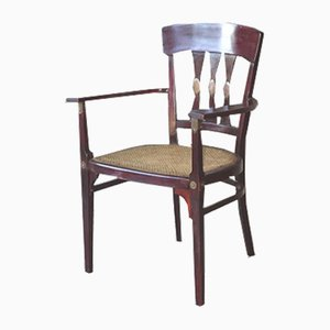Antique Caned No. 6530 Lounge Chairs by Michael Thonet for Gebrüder Thonet Vienna GmbH, 1910s, Set of 2