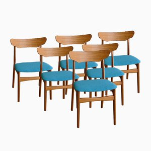 Danish Petroleum Teak Dining Chairs by Schiønning & Elgaard for Randers Møbelfabrik, 1960s, Set of 6