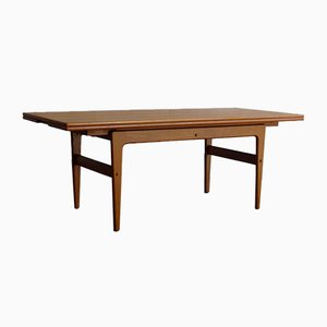 Grande Table Extensible en Teck par Kai Kristiansen pour Vildbjerg Møbelfabrik, Danemark, 1960s