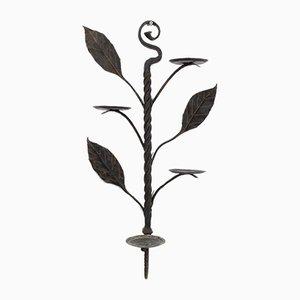 Schmiedeeisen Pflanzenständer, 1950er, 2er Set
