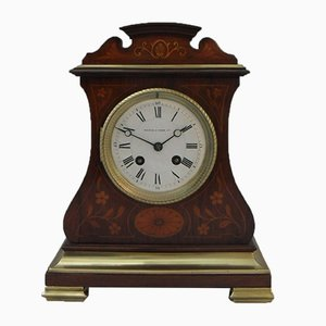 Antique Belle Epoque French Rosewood Mantel Clock from A.D Mougin, 1900s