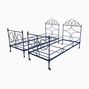 Antique Iron Beds, 1800s, Set of 2